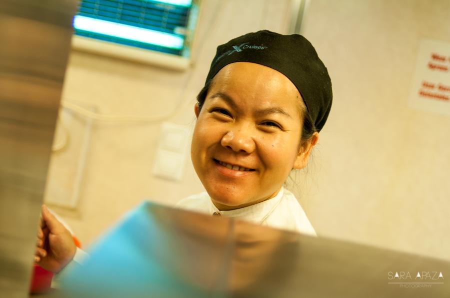 Noo (Tailandia), creo que es una de las mujeres más fuertes y trabajadoras de este lugar. La admiro por esa sonrisa perenne en el rostro.
