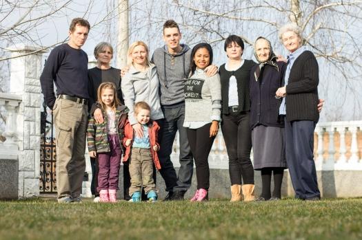 Aquí junto a Marko y su familia. <3